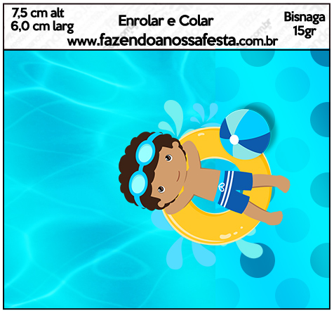 Bisnaga Brigadeiro 15gr Pool Party Menino Moreno