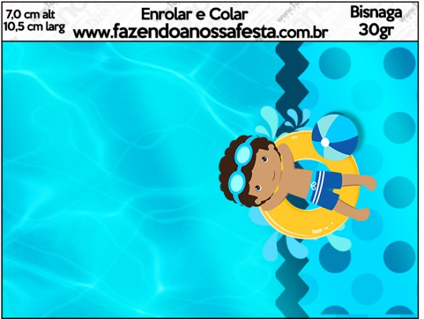 Bisnaga Brigadeiro Pool Party Menino Moreno