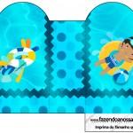 Caixa Coração Pool Party Menino Moreno