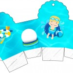 Caixa Cupcake Pool Party