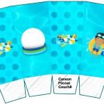 Caixa Pipoca Pool Party Menino Moreno