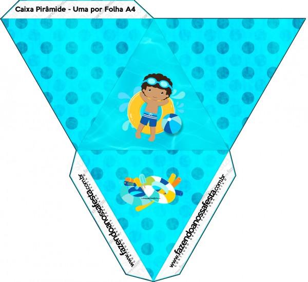 Caixa Pirâmide Pool Party Menino Moreno