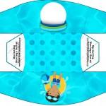 Caixa cachorro-quente Pool Party Menino Moreno
