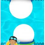 Cartão Agradecimento de Mesa Pool Party Menino Moreno