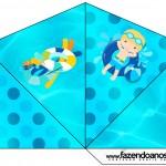 Cone Guloseimas 4 lados Pool Party