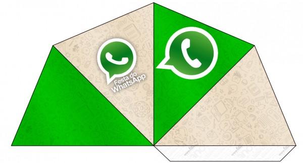 Cone Guloseimas 4 lados Whatsapp