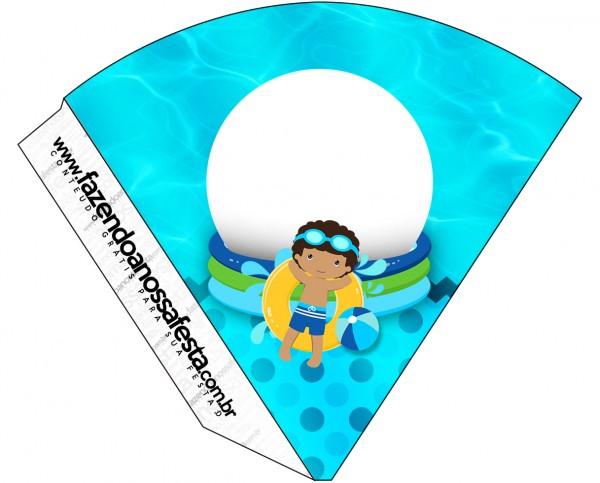 Cone Guloseimas Pool Party Menino Moreno