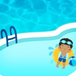 Convite 4 Pool Party Menino Moreno