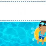 Convite 6 Pool Party Menino Moreno