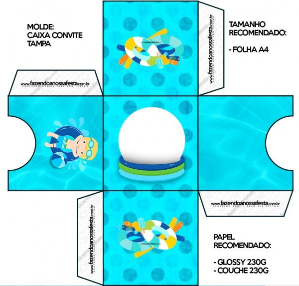 Convite Caixa Tampa Pool Party