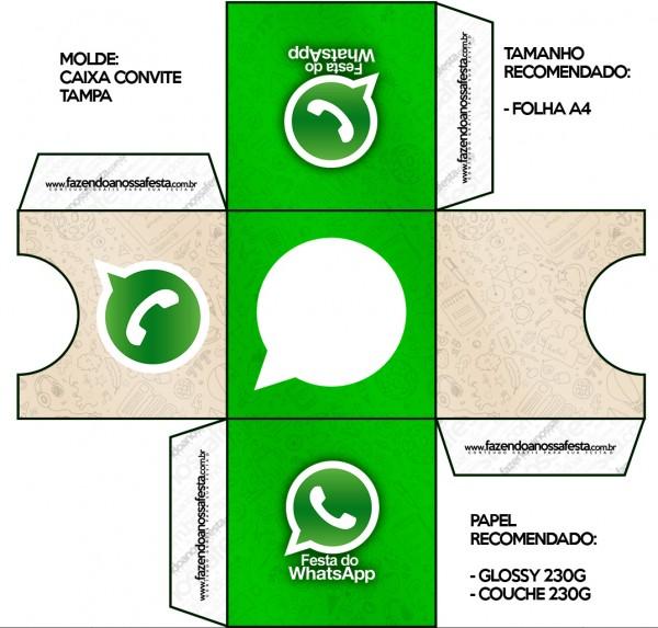 Convite Caixa Tampa Whatsapp