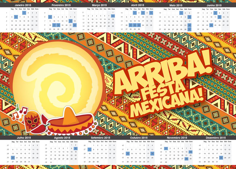 Convite Calendário 2015 Festa Mexicana - Fazendo a Nossa Festa 180c3d061d5