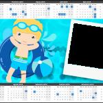 Convite Calendário 2015 Pool Party