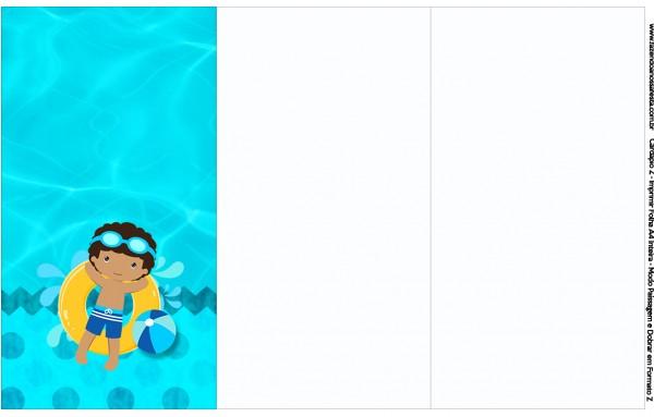 Convite, Cardápio ou Cronograma em Z Pool Party Menino Moreno