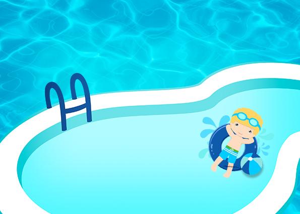 Convite, Cartão Pool Party 1 - Fazendo a Nossa Festa