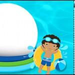 Convite Ingresso Pool Party Menino Moreno