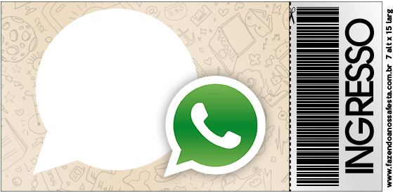 Convite Ingresso Whatsapp