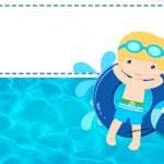 Convite, Moldura e Cartão Pool Party