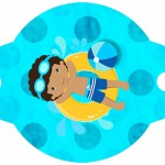 Enfeite Canudinho Pool Party Menino Moreno