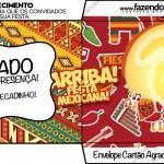 Envelope Cartão Agradecimento Festa Mexicana