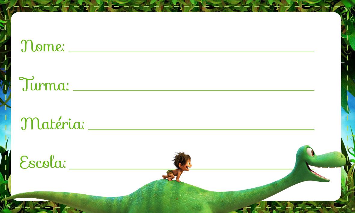 Etiqueta Escolar O Bom Dinossauro 3