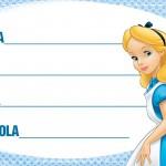 Etiqueta Escolar Personalizada Alice no Pais das Maravilhas