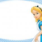 Etiqueta Escolar Perosnalizada Alice no Pais das Maravilhas 2