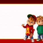 Etiqueta Escolar Personalizada Alvin e os Esquilos 12