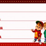 Etiqueta Escolar Personalizada Alvin e os Esquilos 14