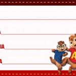 Etiqueta Escolar Personalizada Alvin e os Esquilos 18