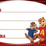 Etiqueta Escolar Personalizada Alvin e os Esquilos 2