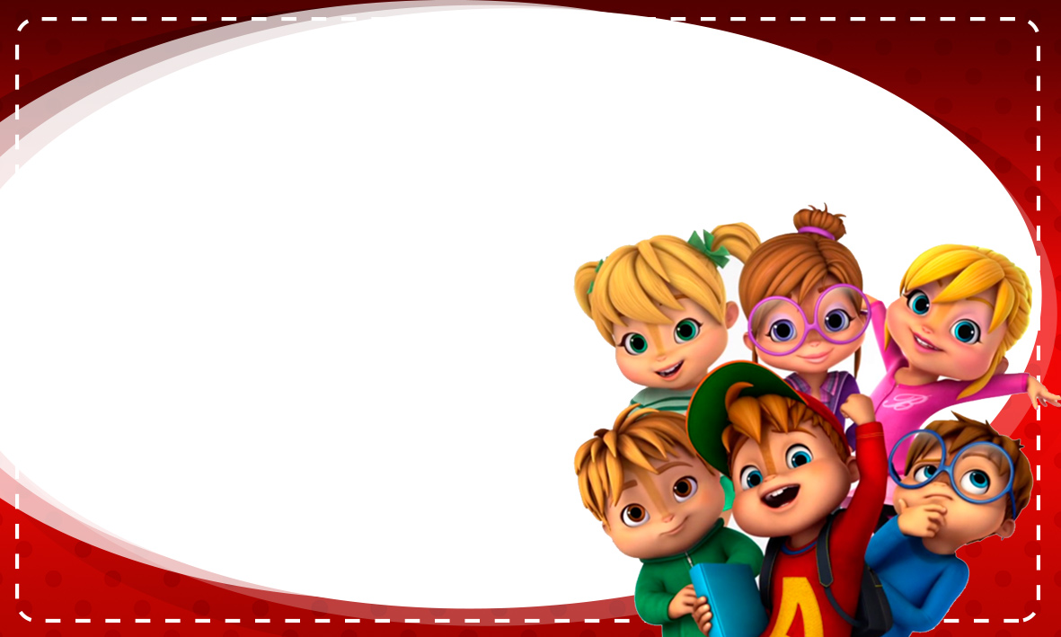 Etiqueta Escolar Personalizada Alvin e os Esquilos 39