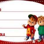 Etiqueta Escolar Personalizada Alvin e os Esquilos 4