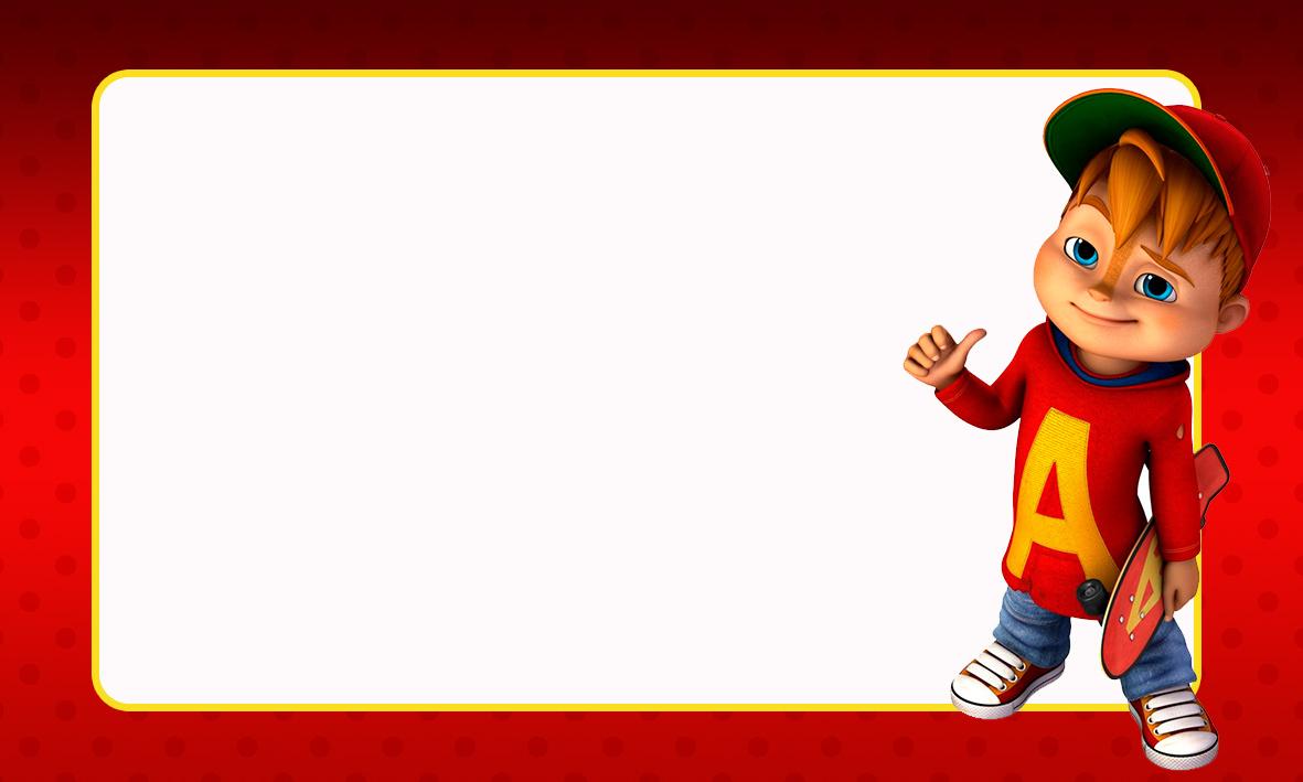 Etiqueta Escolar Personalizada Alvin e os Esquilos 41