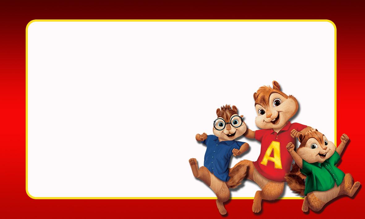 Etiqueta Escolar Personalizada Alvin e os Esquilos 43