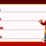 Etiqueta Escolar Personalizada Alvin e os Esquilos 44