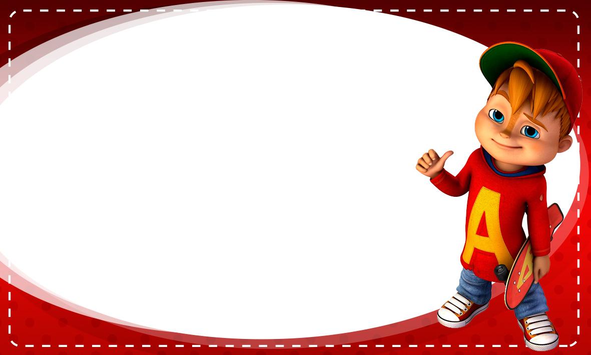 Etiqueta Escolar Personalizada Alvin e os Esquilos 6