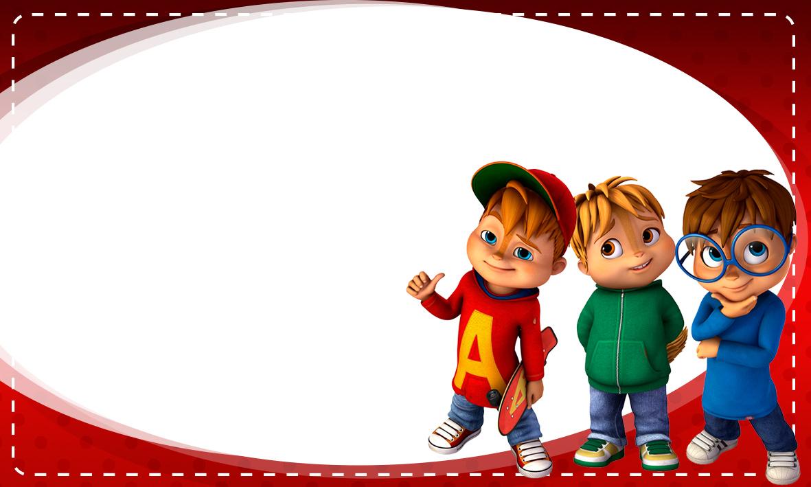 Etiqueta Escolar Personalizada Alvin e os Esquilos 7