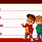Etiqueta Escolar Personalizada Alvin e os Esquilos 9