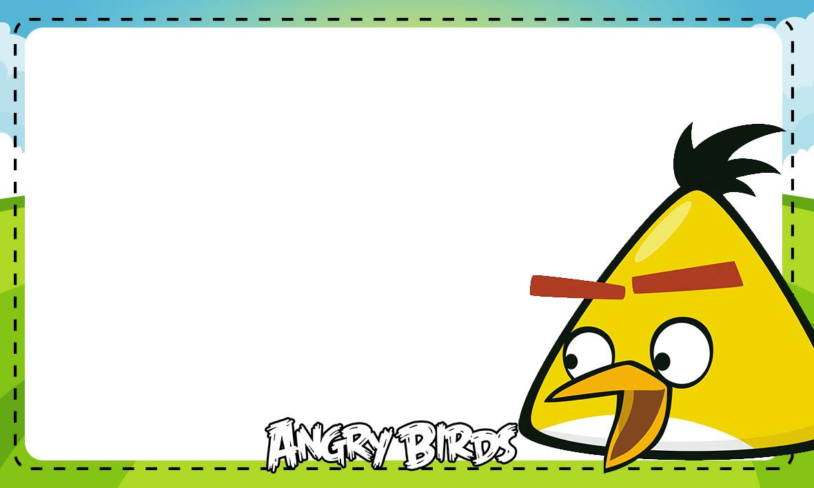Etiqueta Escolar Personalizada Angry Birds 10