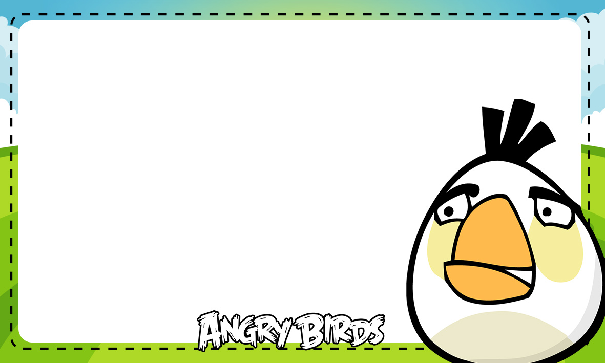 Etiqueta Escolar Personalizada Angry Birds 12