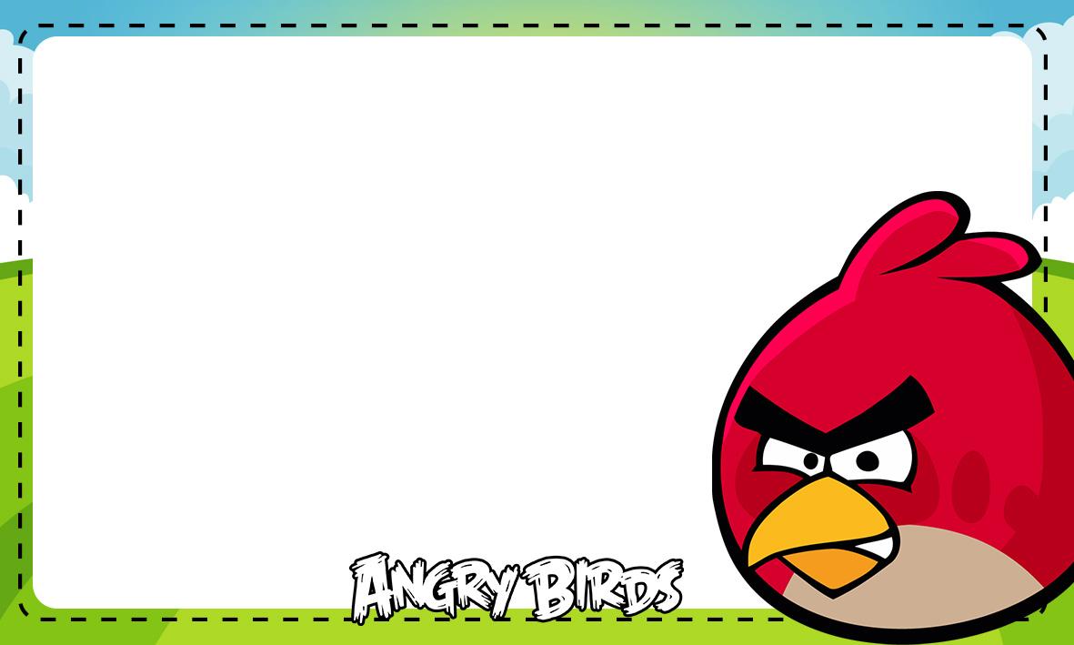 Etiqueta Escolar Personalizada Angry Birds 2