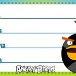 Etiqueta Escolar Personalizada Angry Birds 3
