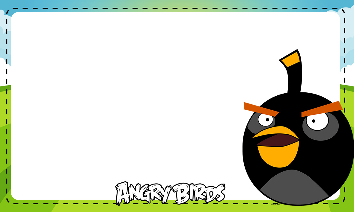 Etiqueta Escolar Personalizada Angry Birds 6