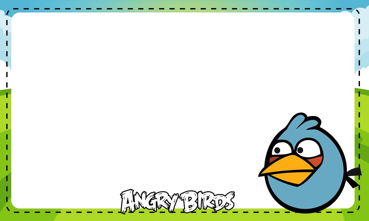 Etiqueta Escolar Personalizada Angry Birds 8