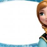 Etiqueta Escolar Personalizada Anna Frozen Azul 2