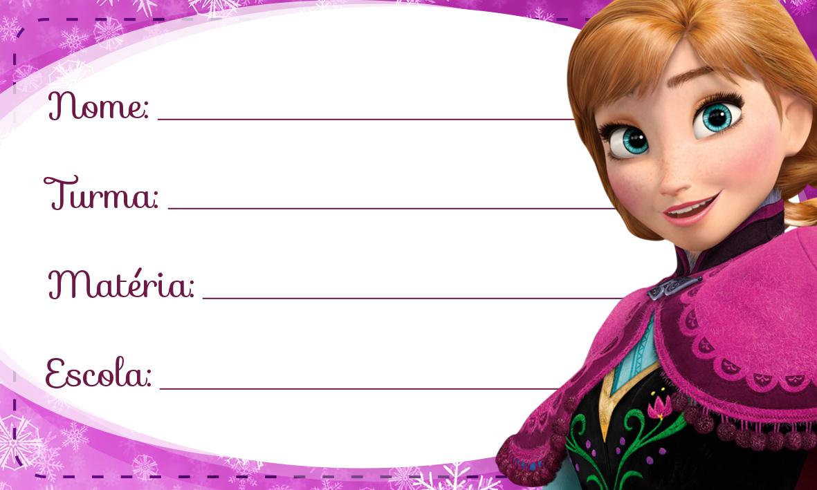 Etiqueta Escolar Personalizada Anna Frozen