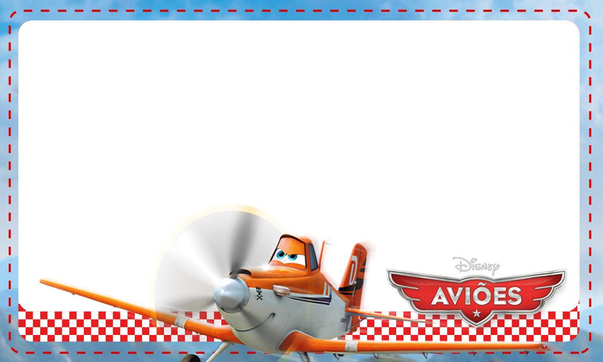 Etiqueta Escolar Personalizada Avioes da Disney 2