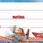 Etiqueta Escolar Personalizada Avioes da Disney 3