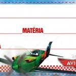 Etiqueta Escolar Personalizada Avioes da Disney 6